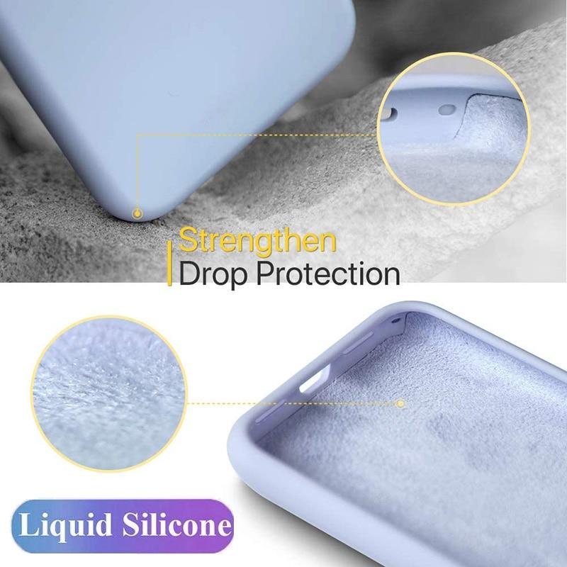 Original Phone Case For iPhone 11 12 Pro Max 7 8 6 6s Plus 12 mini Liquid Silicone Case For XR X XS