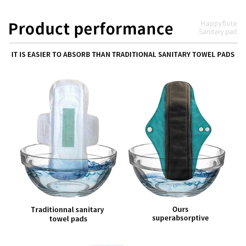 Happyflute 10pcs Bamboo Charcoal Pads Reusable Pads Sanitary Pads Washable Panty Liner Mama Maternity Menstrual Pads Maternity Pads Aliexpress