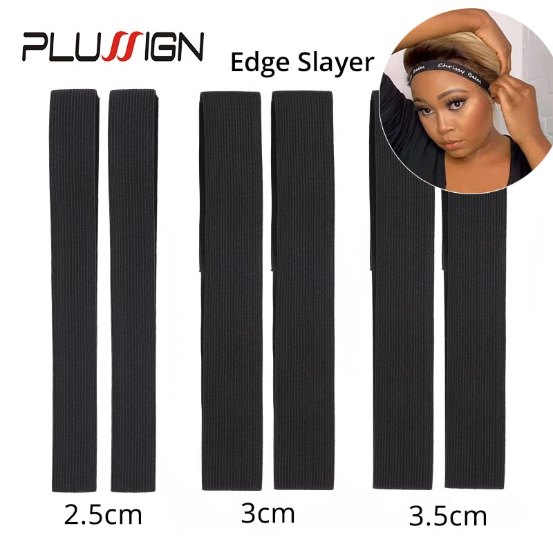 Plussign Edge Laying Scarf Wig Grip Band For Lace Frontal Wigs Non Slip Hair Wrap Adjustable Elasctic Headbands For Wigs