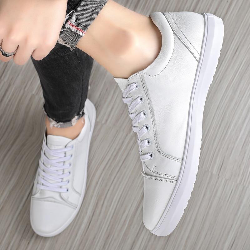 جديد الرجال أحذية رياضية بيضاء المرأة موضة فلكنيز أحذية حجم 36-44 جودة عالية أحذية الهيب هوب منصة الدانتيل متابعة احذية الجري