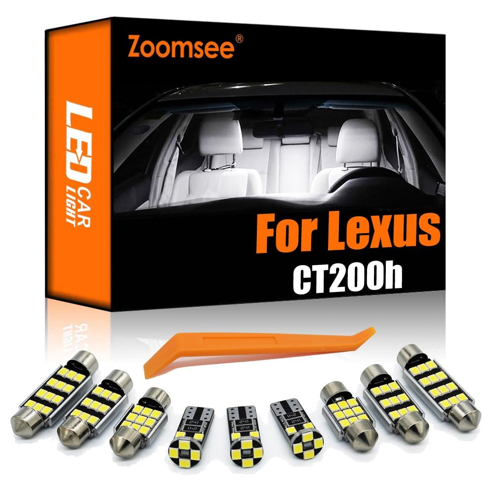 Zoomsee 10 Uds LED Interior para Lexus CT200h 2011-2017 Canbus bulbo del...