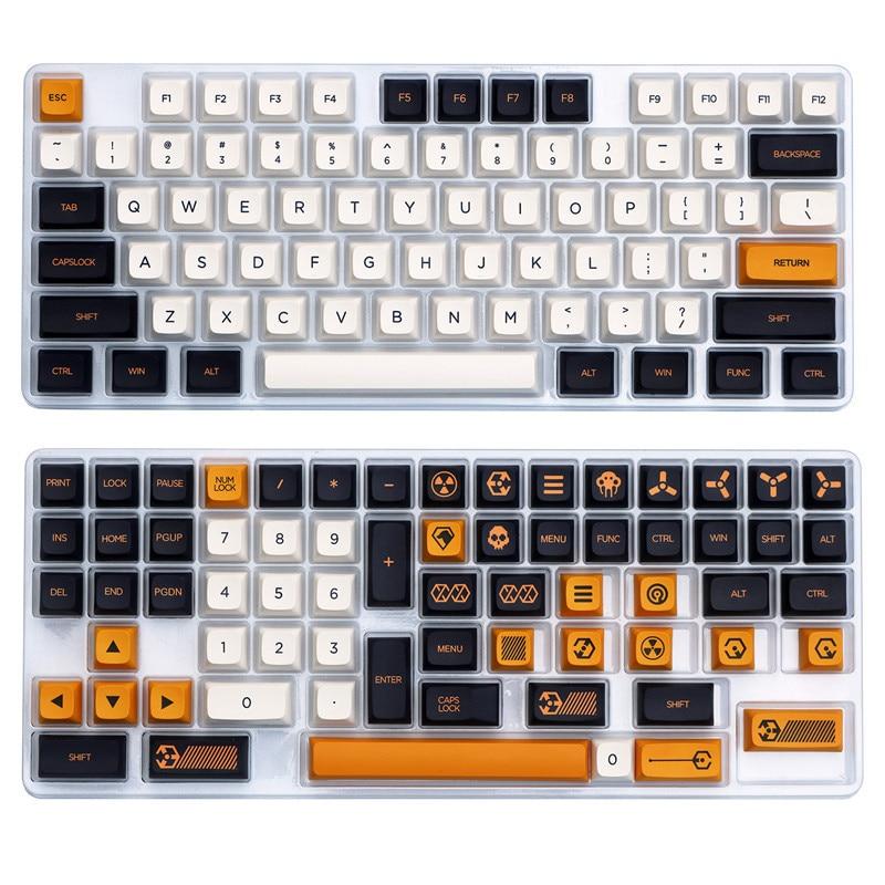1 مجموعة الظاهري الحرب موضوع Keycap ل MX التبديل الميكانيكية لوحة المفاتيح PBT 5 الجانبين صبغ تحت أغطية المفاتيح XDA الشخصي مفتاح قبعات