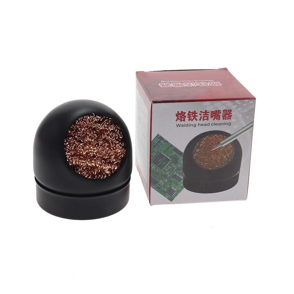Boquilla de soldadura de hierro, asiento de bola de limpieza, bola de acero, Boca de limpieza, Bola de succión de cobre puro, planta de red de estaño, eliminación de asiento de bola de estaño