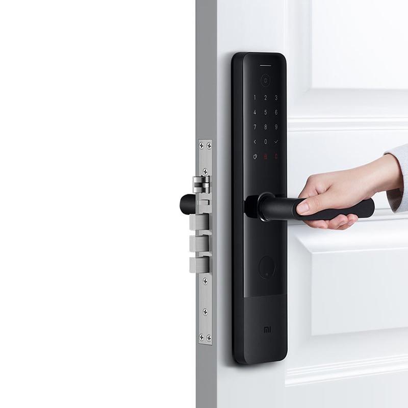 Original Xiaomi Mijia Smart Door Lock E Fingerprint Password Bluetooth Unlock Detect Alarm Mi Home App Control with Doorbell
