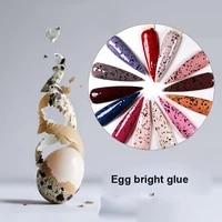 francheska 8ml nail gel egg shell gel polish quail egg nails effect varnishes gel nails art eggshell base top coat glue tslm1
