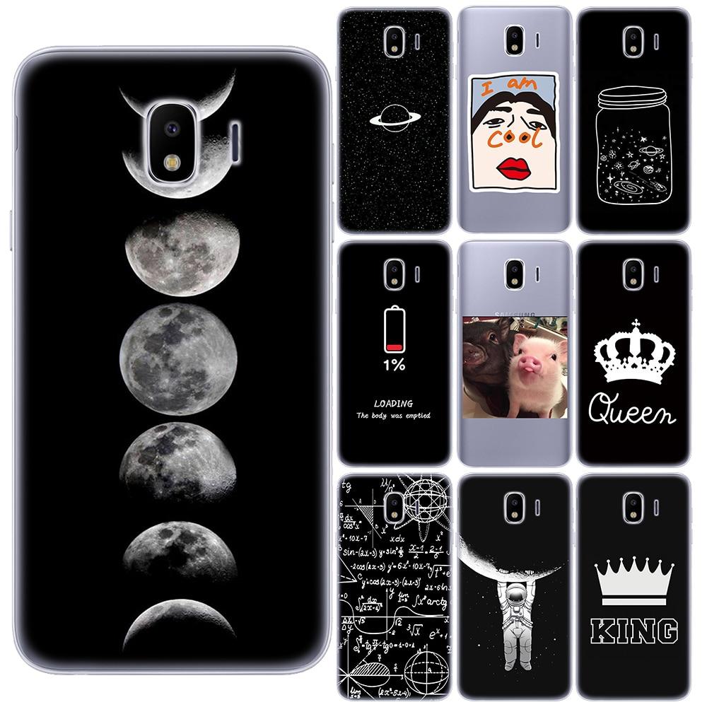 Funda de silicona suave del universo de la fórmula del complejo King Queen para la cubierta del teléfono de Samsung J4 J6 Plus J3 J8 2018 J3 J5 J7 2017 J2 J5 Prime