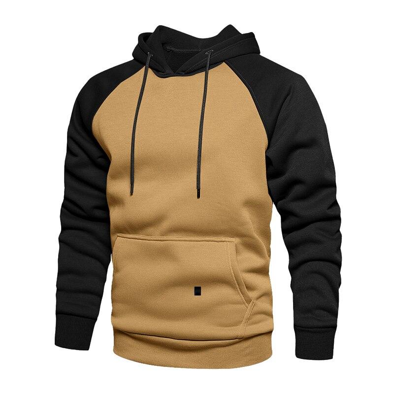Толстовка мужская зимняя с длинным рукавом, свитшот с капюшоном, пуловер, кофта с карманами, плотный теплый пуловер, 4XL