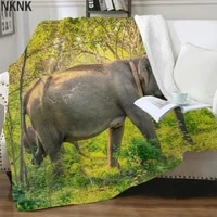 nknk elephant blankets animal bedspread for bed trees blankets for beds landscape 3d print sherpa blanket new high quality adult