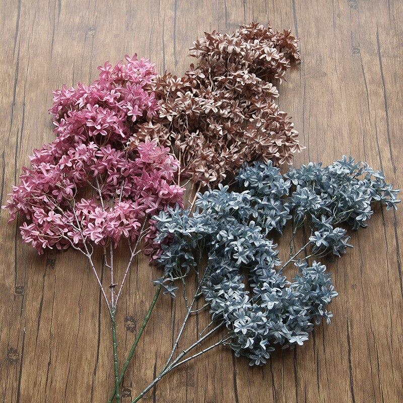 Flor Artificial flor de cerezo 90cm alta encriptación plástico falso flor decoración de boda decoración de arreglo de flores para el hogar
