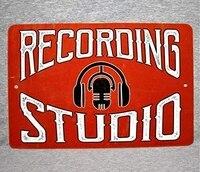 metal sign recording studio sound mixing audio engineer music technician sound control room aluminum garage wall plaque