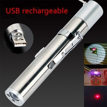 Mini pointeur laser rouge USB rechargeable 3 en 1 lampe de poche rechargeable lampe de poche UV laser stylo Powerpoint lasers multifonctions
