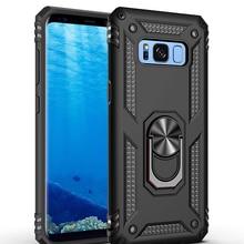Funda de teléfono para Samsung Galaxy S7, S8, S9, S10, S10E, S20 Nore, 20, 10, 9, 8 Plus, Pro Lite, Ultra 5G, cubierta de soporte de anillo magnético a prueba de golpes