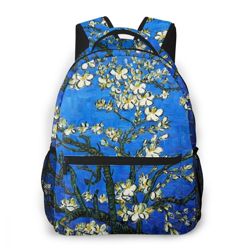 لوحة زيتية شهيرة للنساء ، حقيبة سفر فنية من البوليستر ، حقيبة كتب للأولاد والبنات ، هدية كمبيوتر محمول مخصصة