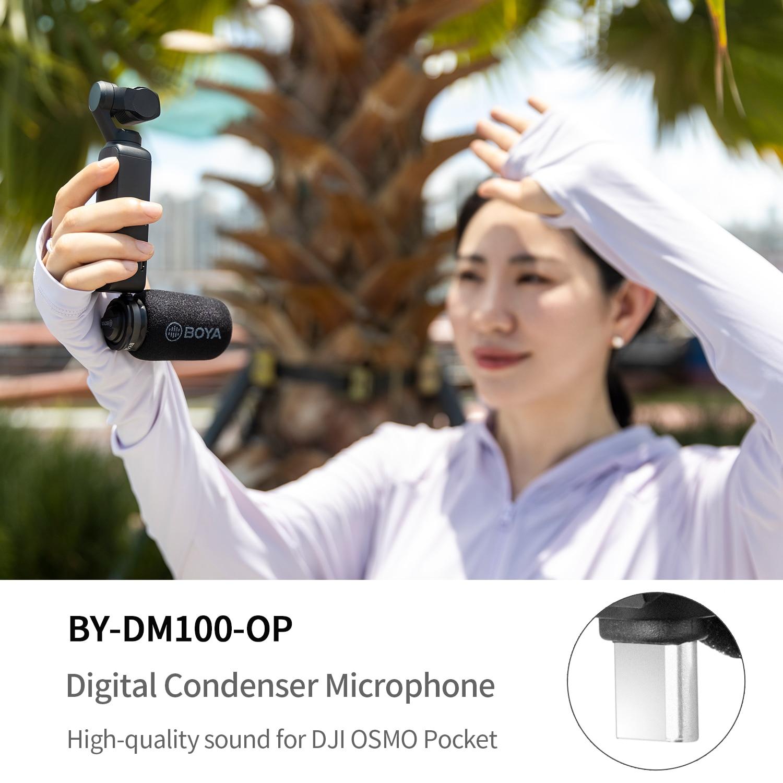 BOYA BY-DM100-OP Digital Condenser Microphone Omnidirectional shotgun microphone for DJI OSMO™ Pocket Plug and play operation enlarge