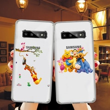 Cute cartoon Winnie the pooh Phone Cases For Samsung Galaxy A10 A30 A50 A70 S7 S8 S9 S10 Plus Soft TPU Silicone Back Cover Case