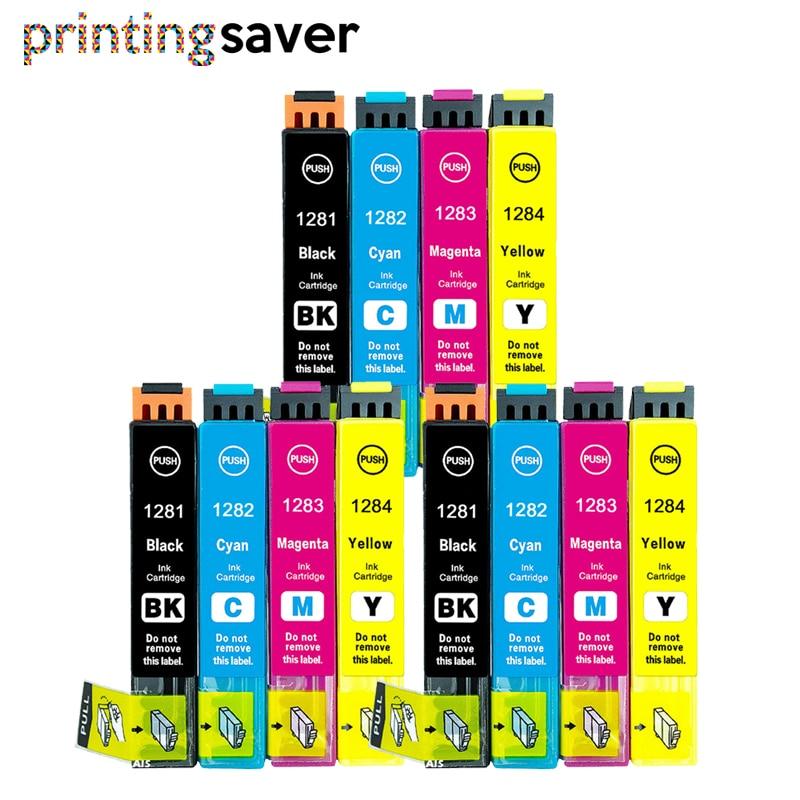 12x T1281 - T1284 T1285 XL ink cartridge for Stylus SX435W SX130 SX235W SX425W SX445W BX305FW BX305F inkjet printer