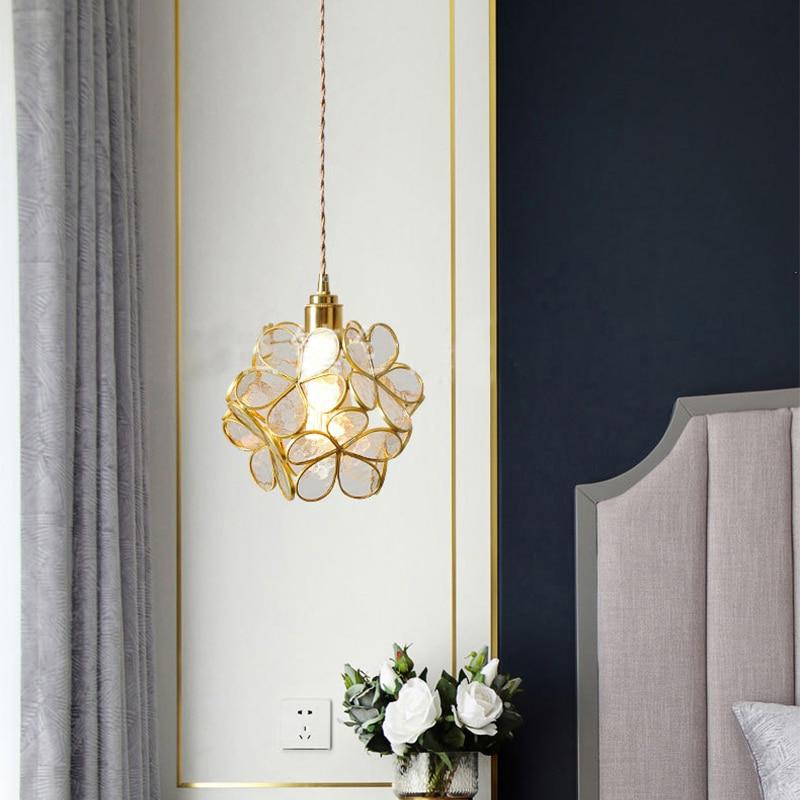 مصباح زجاجي معلق Led على الطراز الياباني ، تصميم حديث ، إضاءة داخلية مزخرفة ، مثالي لغرفة الطعام أو الشرفة أو طاولة السرير.