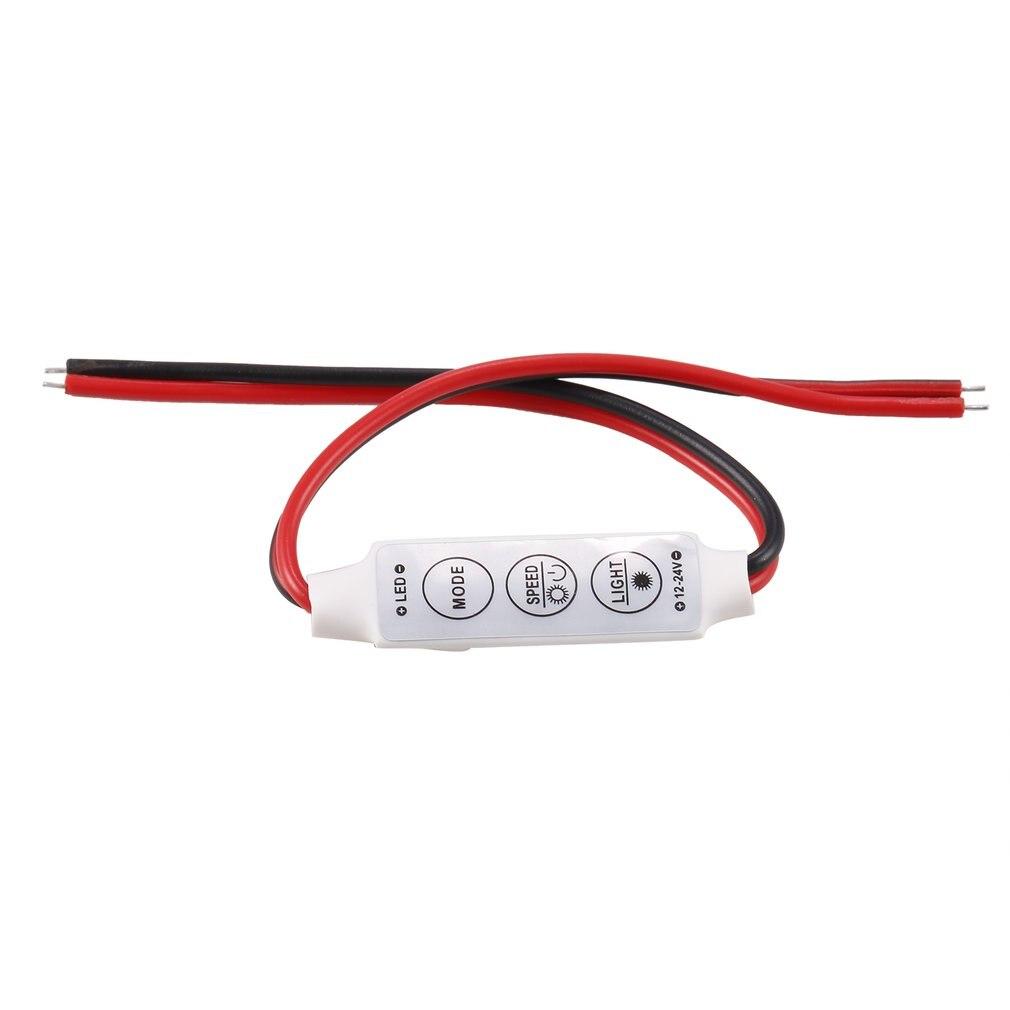 3 Keys Mini Dimmer 12V 12A LED Dimmer Remote Controller For Single Color 5050/3528 Led Strips Brightness Dimmer