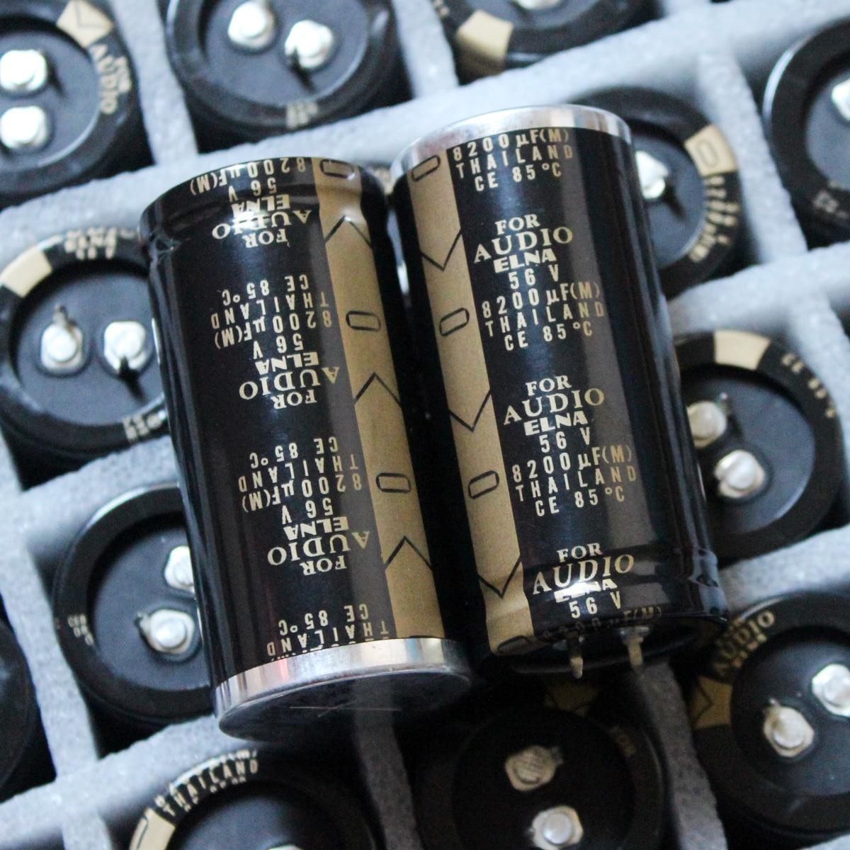 2 шт. Оригинальный Новый ELNA для аудио 56V8200UF аудио-электролитический конденсатор с алюминиевой крышкой, 8200 мкФ 56в 30X63 мм LAO-56V822MS49WP