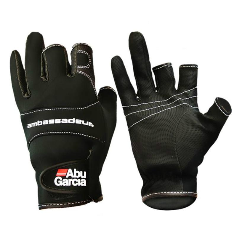 Guantes antideslizantes de cuero para pesca al aire libre, guantes antideslizantes para...