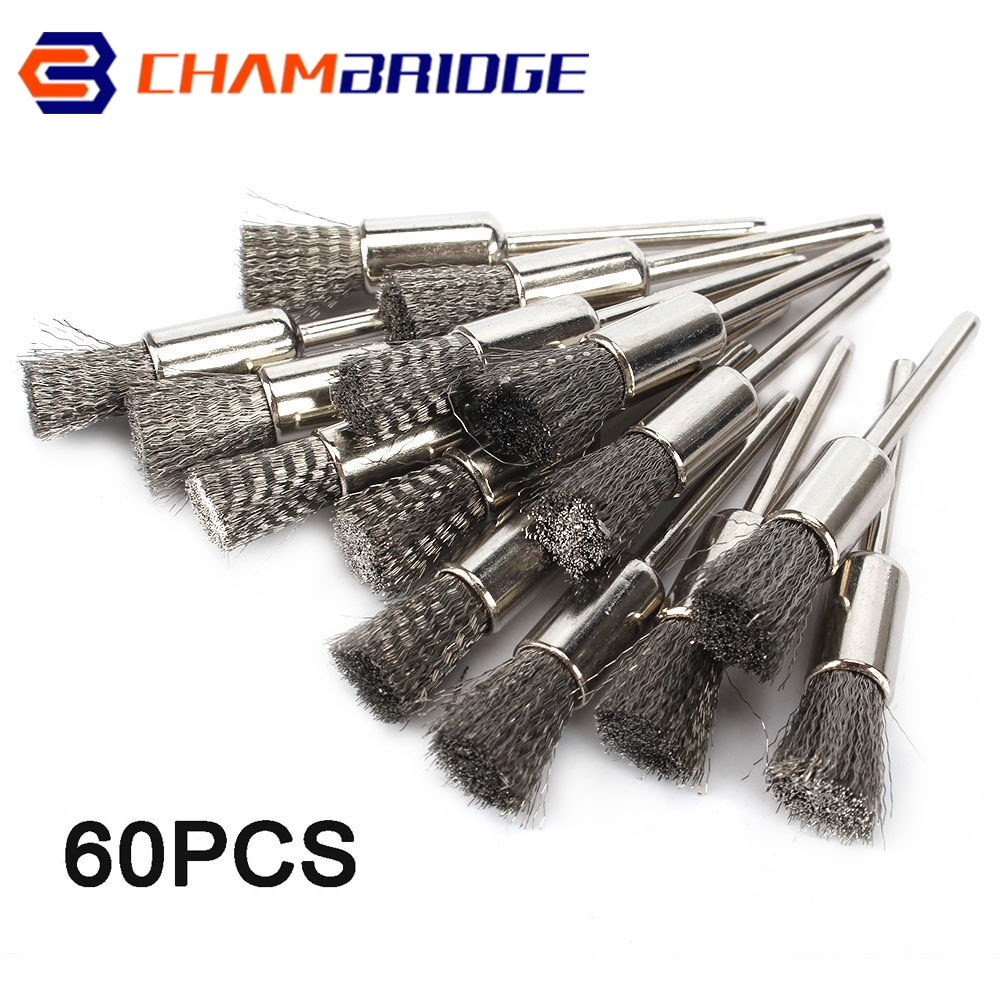 30pcs mini rotary stainless steel wire wheel wire brush small wire brushes set dremel accessories for mini drill rotary tools 8mm Platinum Blade Stainless Steel Wire Wheel Brush Rotary Tool For Metal Rust Removal Mini Drill Dremel Polishing Brushes Set