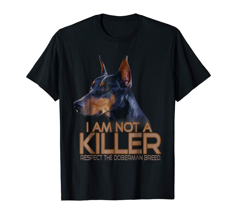 Divertido Doberman regalos perro dóberman camiseta Unisex Tee