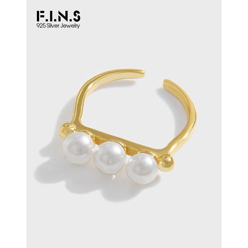 fins-минималистичное-кольцо-из-стерлингового-серебра-925-пробы-с-тремя-большими-жемчужинами-открытое-регулируемое-кольцо-на-указательный-п