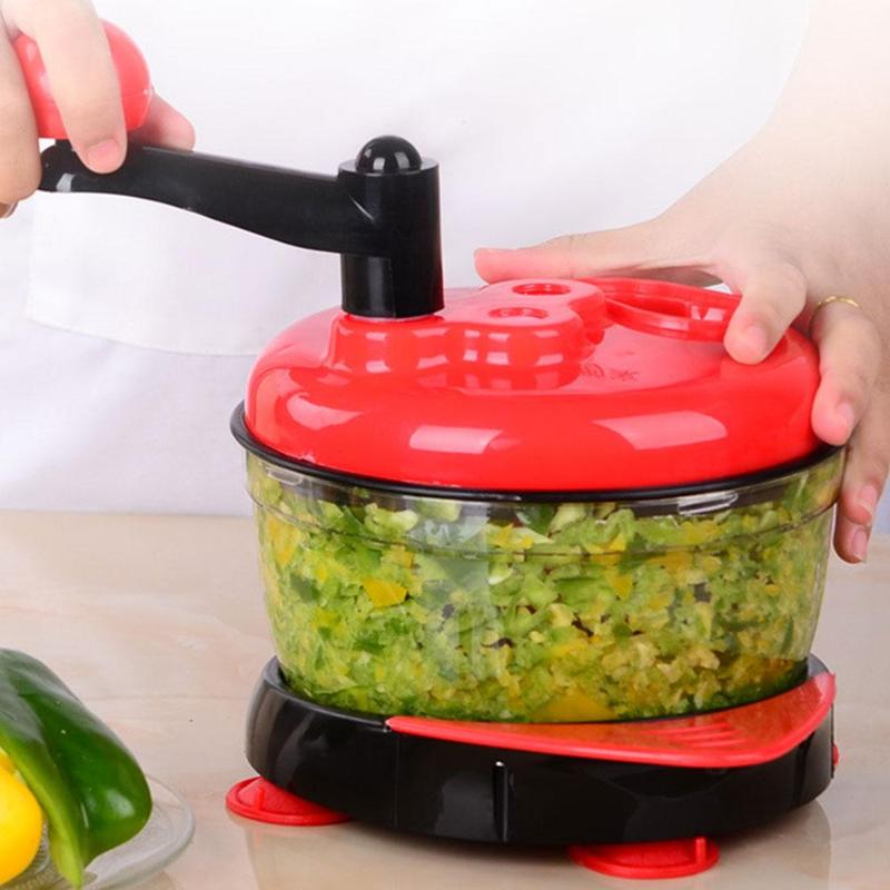360 Dgree práctico procesador de alimentos multifunción rebanador de verduras rápido rallador rotatorio triturador de nueces Veggie pelador Spiralizer Chopper