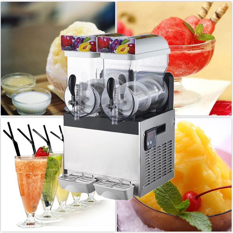 220v 110v comercial slush maquina de bebida gelo liquidificador grande capacidade