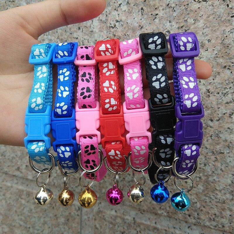 Легко носить ошейник для кошек и собак с колокольчиком Регулируемая пряжка ошейник для собак товары для щенков питомцев аксессуары для маленьких собак чихуахуа