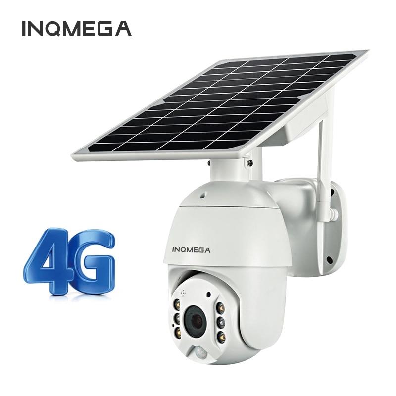 INQMEGA 4G كاميرا IP الشمسية واي فاي PTZ قبة ضوء النجوم كامل اللون الأشعة تحت الحمراء الرؤية P2P بطاقة sim الأشعة تحت الحمراء الرؤية كاميرا بشكل قبة سحا...
