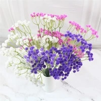 1pc artificial babys breath flower gypsophila fake silicone plant for wedding home hotel party decoration