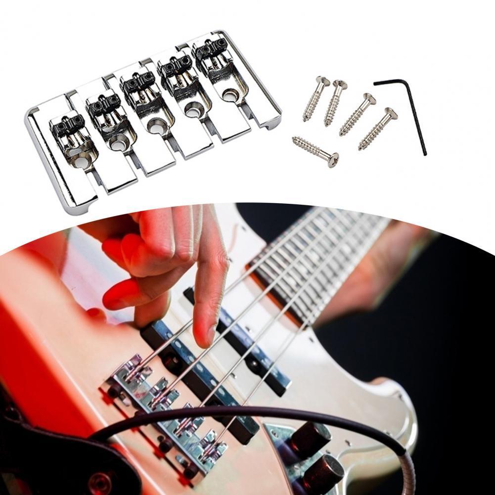 Фото - Бас-гитара мост анти-ржавчины Запасные детали для замены металлического износостойкая 5 строка фиксированной седло бас-гитара мост музыкал... бас гитара yamaha trbx304 black