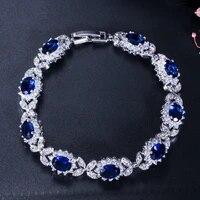 s925 sterling silver bracelet sapphire emerald gemstone bangle fashion luxury aaa zircon bracelet engagement wedding jewelry