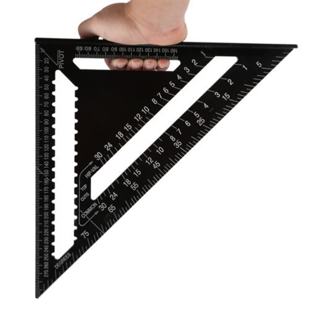 12 Inch Aluminum Alloy  set Square Read Rafter Square Layout Tool