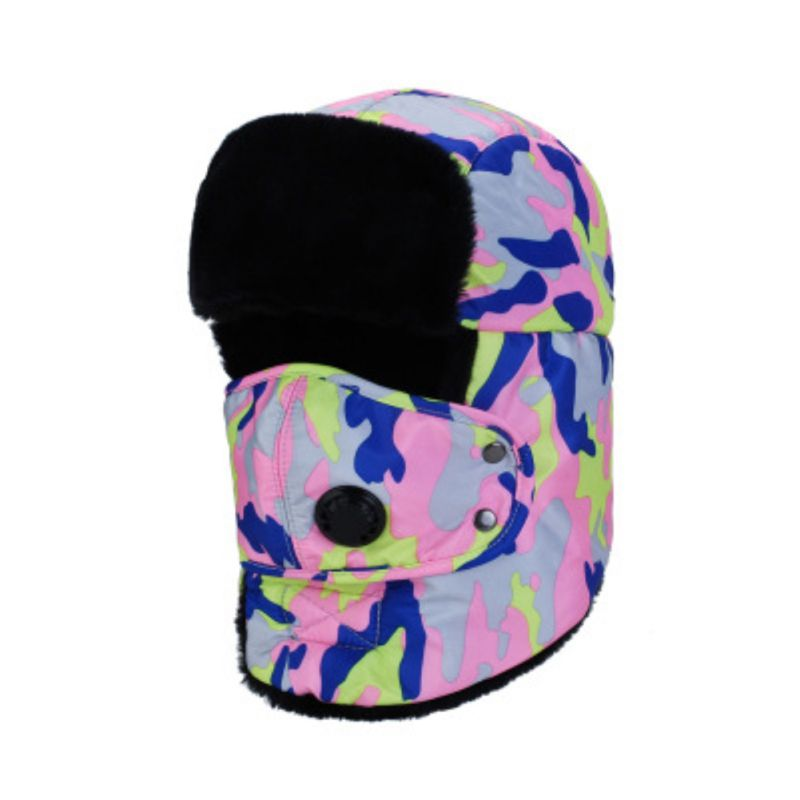 Winter Unisex Practical Thick Windproof Thermal Detachable Anti Pollution Face Mask Warm Cap Outdoor