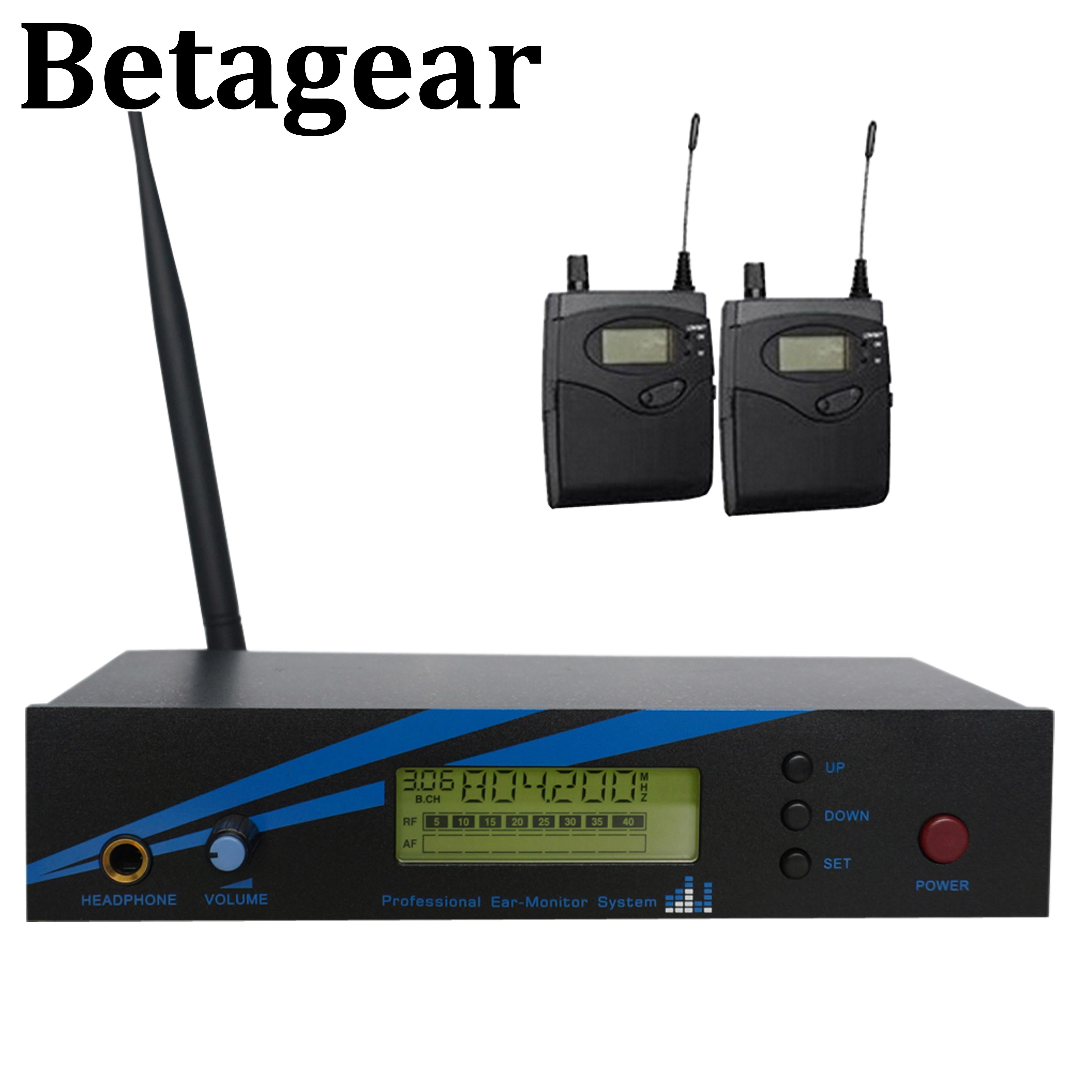 Betagear-نظام مراقبة الأذن أحادي ، BK500 ، قناة واحدة ، 798-830 ميجاهرتز ، 2 جهاز استقبال ، مرحلة صوتية ، أداء احترافي