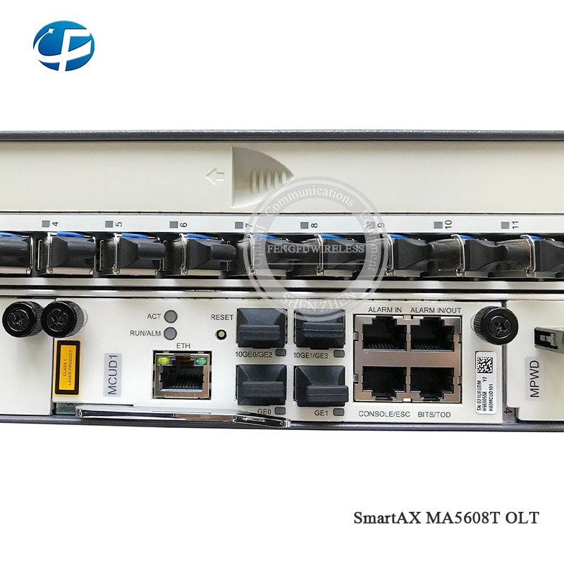 "Hua wei 19 ""pulgadas OLT GPON OLT MA5608T AC 1 * MPWD 1 * MCUD1 10G de control con 16 puertos GPFD C + + 5g 5608 16PON GPON OLT"