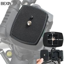 BEXIN Универсальный штатив монопод трехмерный пластиковый адаптер Крепление камеры штатив головка БЫСТРОРАЗЪЕМНАЯ пластина площадка штатива