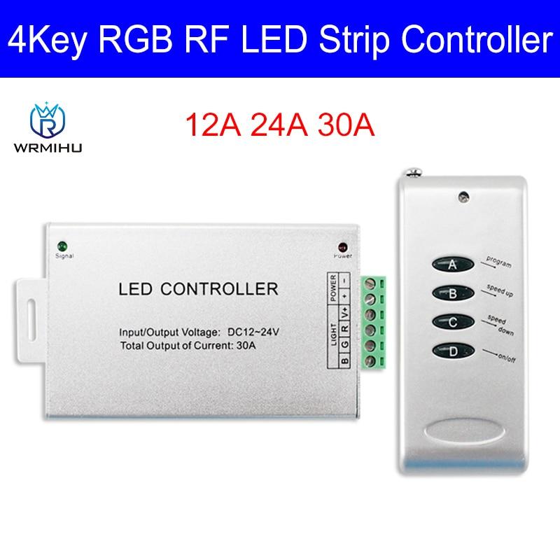12A 24A 30A светодиодный Управление; Беспроводной 4 радиочастотным пультом дистанционного Управление, модуль RGB Управление; Для 5050 3528 светодиодн...
