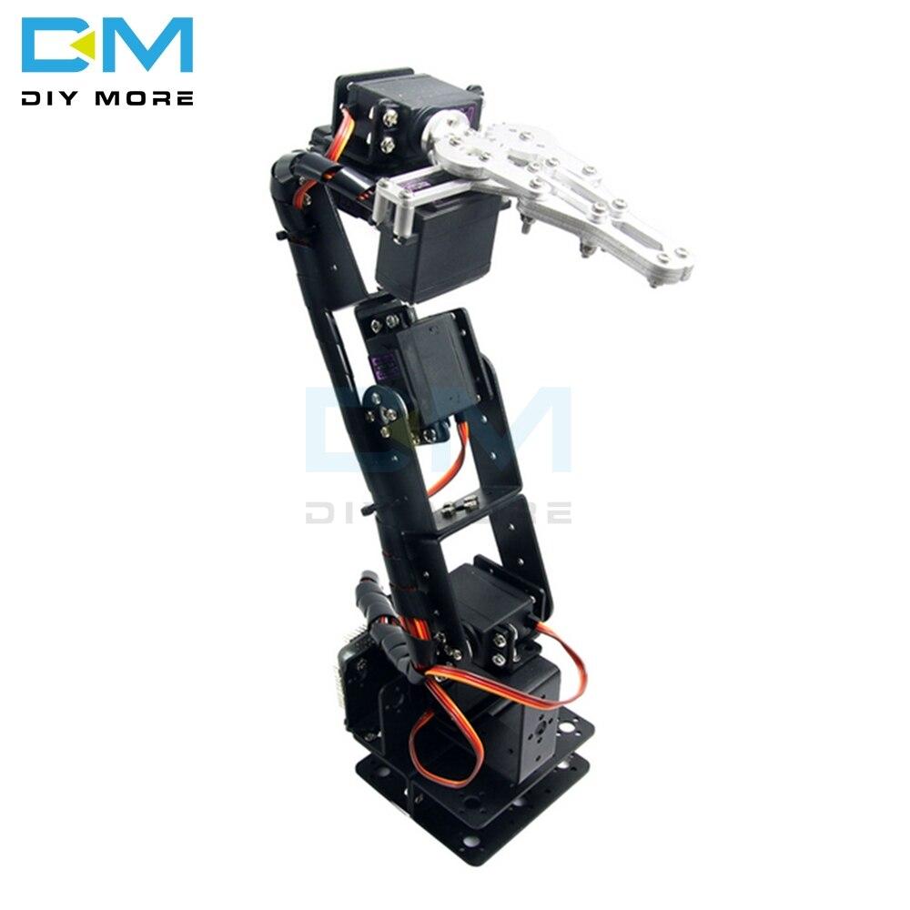 Robot de aluminio 6 DOF brazo garra montaje Kit mecánico brazo robótico abrazadera garra montaje Electronice kit para Arduino DIY Robot partes