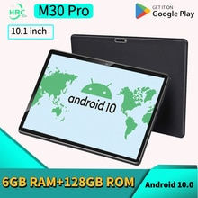 W&O Tablet M30 Pro 10.1 Inch Tablet Android 6GB RAM 128GB ROM Tablette Google Play GPS WIFI  Dual SI