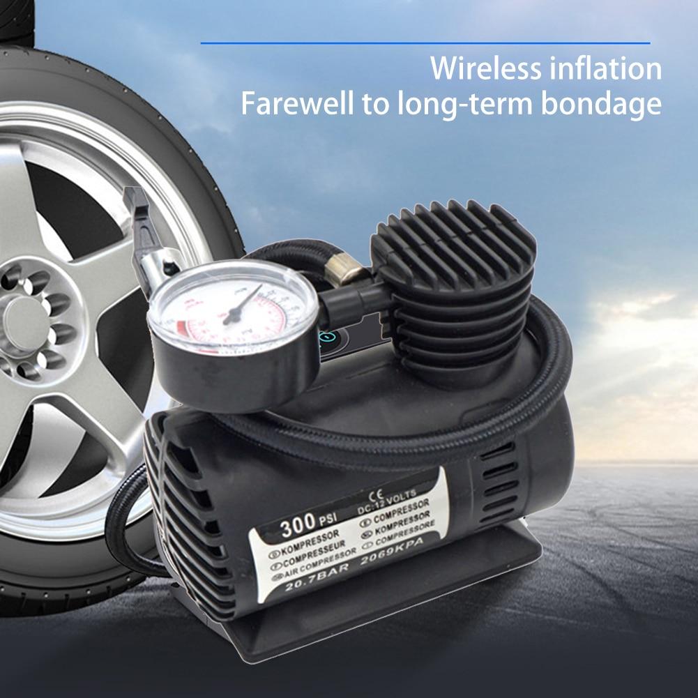 300 PSI 12 فولت سيارة قياس ضغط لسيارة دراجة منفاخ إطارات رقمي مضخة هواء ضاغط هواء أوتوماتيكي سيارة الاطارات نافخة