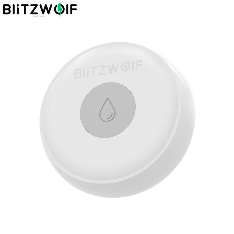 Blitzwolf BW-IS5 sensor de vazamento doméstico, sem fio zigbee sensor inteligente com aplicativo, alarme remoto, 50 metros de comunicação, eletrônica inteligente