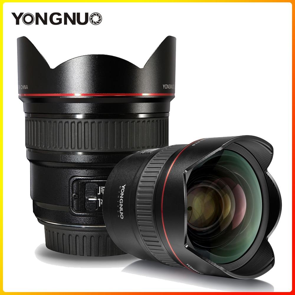 YONGNUO-عدسة بزاوية عريضة للغاية ، YN14mm F2.8C 14 مللي متر AF/MF ، فتحة كبيرة لكاميرا Canon الرقمية DSLR