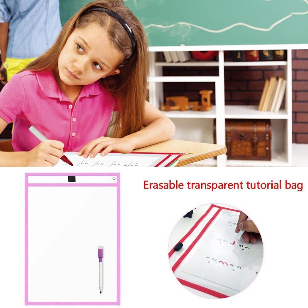 Многоразовые карманы для рисования, прозрачные, для письма и стирания, 1 шт.
