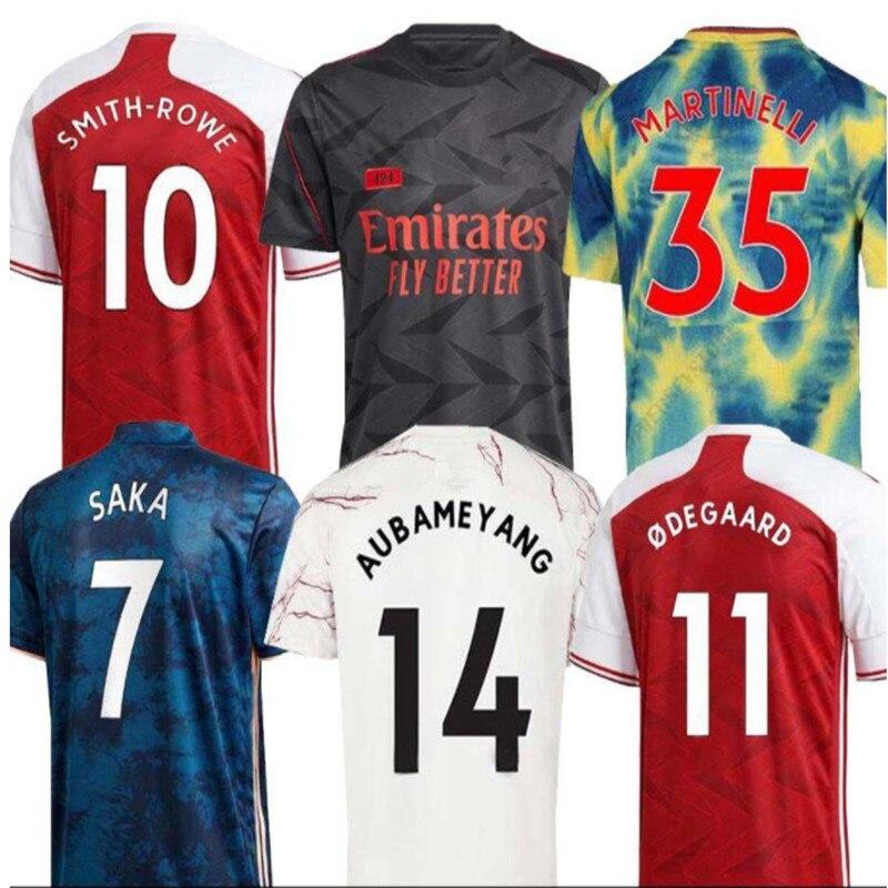 Top Quality new adult 20 21 ArsenalES shirt Odegaard BELLERIN SAKS XHAKA AUBAMEYANG OZIL LACAZETTE GUENDOUZI PEPE THOMAS shirt