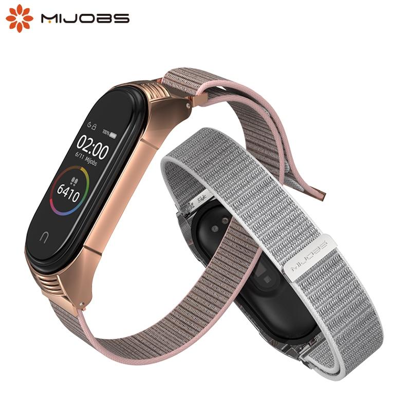 Correa para Xiaomi mi Band 3 4 correa de reloj de nailon suave transpirable reemplazo mi 3 correa de reloj deportiva para mi band 4