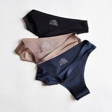 BANNIROU-bragas de seda de hielo para mujer, ropa interior deportiva Sexy sin costuras, lencería femenina, Tanga con parte trasera en T, 3 uds.
