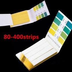 80-400strips litmus teste kit papel urina saliva ácido alcalino útil instrumentos de análise de medição tiras de teste de ph